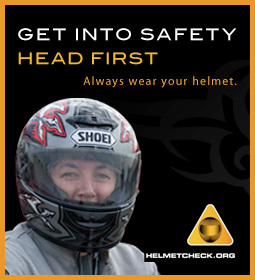 Always wear your helmet ... HELMETCHECK.ORG